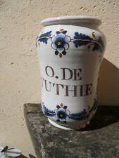 Pot à pharmacie apothicaire médecine faïence Bordeaux XVIIIe O.de.Tuthie