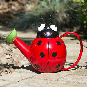 Novelty Childrens Colourful Red Ladybird Metal Garden Plant Watering Can Waterer