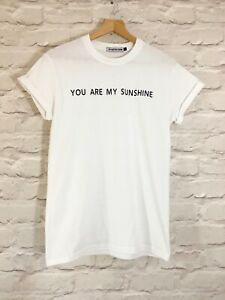 """VIOLET WOLVES """"YOU ARE MY SUNSHINE"""" WOMENS SUMMER CUTE SLOGAN T-SHIRT"""
