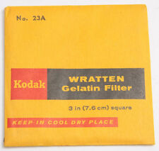 "Kodak No. 23A Wratten Gelatin Filter - 76mm x 76mm 3x3"" Square - Old SEALED F30A"