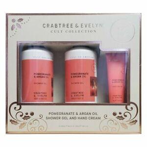 Crabtree & Evelyn Pomegranate & Argan Oil Shower Gel x 2 Bottle, & Hand Cream
