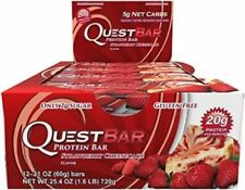 12 Quest Protein Bars Strawberry Cheesecake Weight Loss Fit Gym EXP 9/21/2018