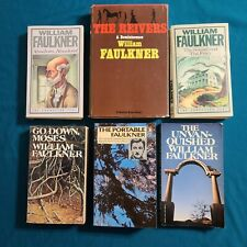 William Faulkner 6 Book Lot - mix - Absalom - Moses - Reivers - Unvanquished