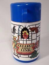 Super Mario Bros 2 / Zelda II Adventures Link Aladdin Thermos Blue 1989 Vintage