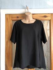 Capsule Women's Ladies Top Blouse Black Size Uk 14