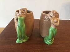 New listing Rare Vintage Collectible Lot Of Two Ceramic Painting Damsel Risqué Coffee Mugs