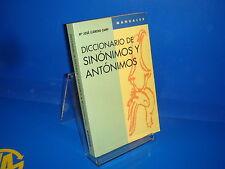 Libro DICCIONARIO DE SINONIMOS Y ANTONIMOS manuales