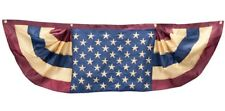 Vintage American Flag Bunting Patriotic Stars Stripes Weather Resistant Nylon B