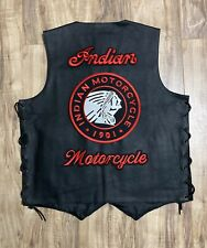 Indian Motorcycle Mens Leather Vest XXL