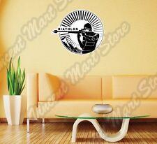 "Biathlon Cross-Country Ski Race Rifle Gun Wall Sticker Room Interior Decor 22"""