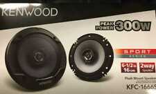 Kenwood KFC-1666S 6.5 inch 300W 2 Way Coaxial Pair of Speaker - Black