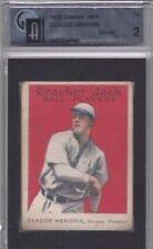 1915 Cracker Jack baseball card #76 Claude Hendrix, Chicago Cubs GAI 2 GOOD