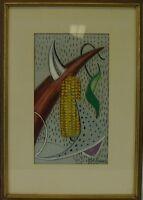 FIFTIES ART - KOMPOSITION MIT MAISKOLBEN - MODERN ART - AROUND 1950 - MIDCENTURY