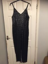 Women's Black Sequin Trouser Play Suit BNWT