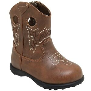 WONDER NATION Baby Boy's size 2 COWBOY BOOTS Zip WESTERN ~ New with Tags