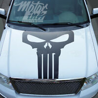 Ford F150 2009-2014 Punisher Skull Hood Blackout Racing Rally Stripes Decals