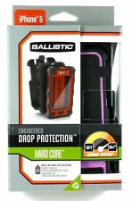 New BALLISTIC Hardcore Drop Tested Hard Case & Holster iPhone SE/5 -Black & Pink