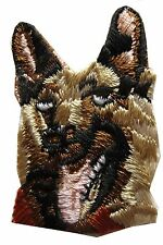 #2787 German Shepherd Dog Head Embroidery Iron On Applique Patch