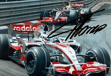 ***  FERNANDO ALONSO  -  MC LAREN / MERCEDES  -  SIGNED  -  F1  ***  A4 photo