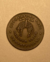 1846 Canada NF-1C1 Breton 953 Harbour Grace Rutherford Bros Newfoundland Token.