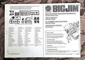 Big Jim Baja Beast Camper instructions no box