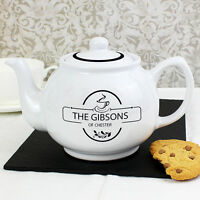 PERSONALISED TEAPOT NEW HOME GIFT House Warming Moving | Family Christmas Idea