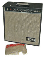 【WOW】RARE 60s Crown GA-58 Tube Guitar Practice Amplifier w Tremolo/Cover!~TESTED