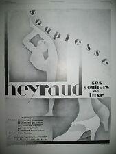 PUBLICITE DE PRESSE HEYRAUD CHAUSSURES SOULIERS DE LUXE FRENCH AD 1928