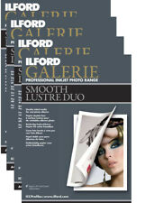 40 Sheets (Lot 4x10) A4 Ilford Galerie Smooth Lustre Photo Duo 280gsm Paper