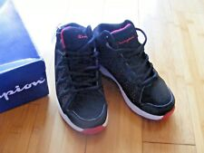 NOS NWT CHAMPION YOUTH BOYS SIZE 13 Black/White/Red LOW Athletic Sneakers