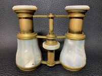Mid Century French Opulent Mother of Pearl and Brass Opera Glasses Binoculars