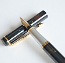 Baoer #801 Aurora Borealis Fine Fountain Pen F Nib Gold Trim Black Ink - UK