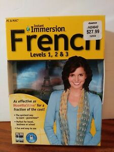Instant Immersion French Levels 1, 2 & 3 9-Disc Set PC & MAC Computer Software