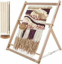 Weaving Loom Kit LARGE With Stand , Wooden Looming Set Tapestry Loom Kit