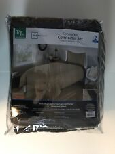 MAINSTAYS SEERSUCKER COMFORTER SET - 2 PIECE TWIN XL - BROWN (NEW IN BAG)