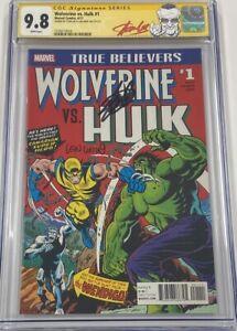 TB Wolverine vs Hulk #1 Hulk #181 Autograph Signed Stan Lee Len Wein CGC 9.8 SS