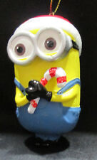 Despicable Me Dave Minion Christmas Ornament Santa Hat Candy Canes New Boxed