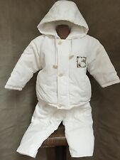 TARTINE ET CHOCOLAT PARIS White Puffer Coat & Pants Set SQUIRREL 2 PORTUGAL Baby