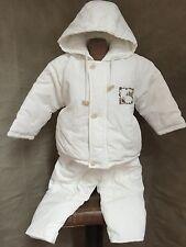 TARTINE ET CHOCOLAT PARIS White Puffer Coat & Pants Set SQUIRREL 2 PORTUGAL Baby