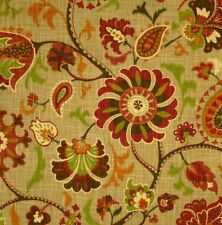Waverly Siren Song Cayenne  Home Decorator Drapery Fabric 2 Yards x 54""