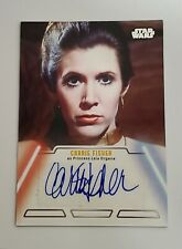 2013 Topps Star Wars Jedi Legacy Autograph Carrie Fisher as Princess Leia Organa