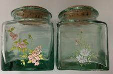 2 Glas Vorratsgefäße mit Korkstopfen, dekorativ NEU