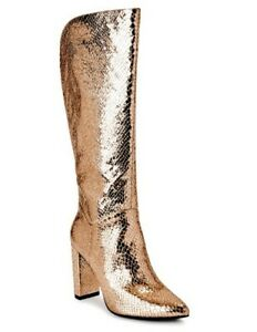Scoop High Heeled Boot Rose Gold