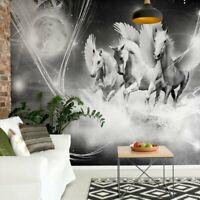 Fototapete Tapete Wandbild 1D20085536 Pegasus auf rosa Hintergrund Tiere Pferde