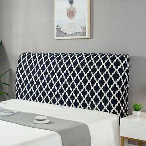 Elastic Bed Headboard Cover Dustproof Printed Bedspreads Geometric Protector