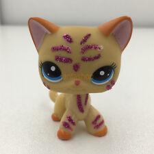 Littlest Pet Shop Short Hair Sparkle Yellow Ranch Kitty Cat #2118 LPS Kids Toys