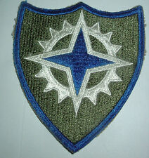 AMERICAN PATCHES-ORIGINAL WW2 16th ARMY CORPS SNOWY WHITE BACK