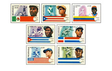 NIC8411 Baseball champions and countries flags 7 stamps