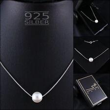 Perlen-Kette Perle Halskette ❤ 925 Sterling Silber ❤ Damen ❤ Etui & Zertifikat ❤