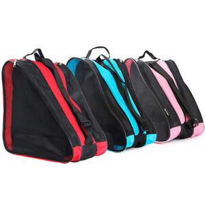 Roller Skate Carry Bag Inline Skates Storage Pouch Skating Shoes Holder US